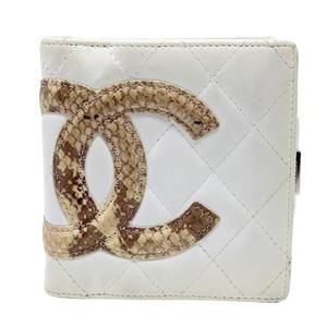 Cambon Quilted Ligne Python CC Compact French Wall